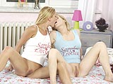 Watch two gorgeous blonde teenies fucking for your pleasure