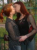Electrifying redheads eagerly kiss and lick hot pussies