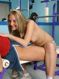 Watch stunning lesbian gym girls first time fucking action