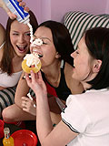 Enjoy three lustful teens finger n kiss in lovemaking orgy