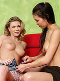 Alluring blonde and brunette have oral and dildo pleasures