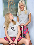 Afterschool cuties joyfully lap and toy fresh sweet quims