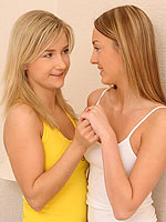 Heavenly blondes climax as they lick and dildo sweet twats