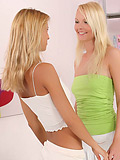Angelic beauties tenderly tongue and glass dildo pink quims
