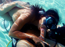 Underwater blowjob