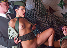 Crazy military babe