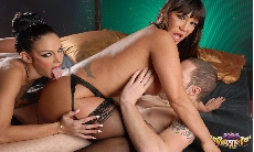 3 Way Sex Fest with Angelina Valentine!