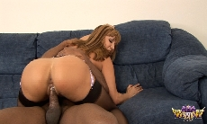 Ava Devine With A Black Stud!