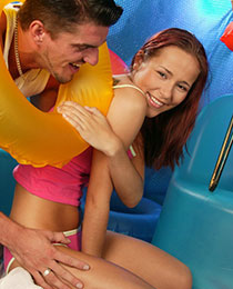 Redhead getting drilled
