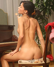 Playing by the piano