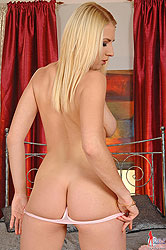 Blonde Bonie stripteases for you