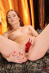 Hot Denisa Heaven with rubber dildo