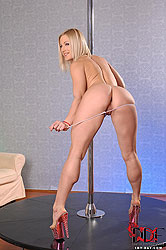 Goddess does a pole dancing show!