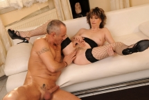 Hairy granny Judyt is fucking with a horny guy
