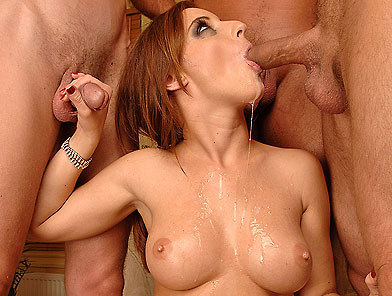 Dirty Judith Fox loves to massaging her throat