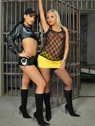 Very hot lesbian action in a strict womens prison