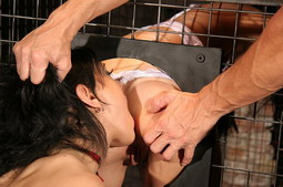 Two lesbian babes in a hardcore dominated action