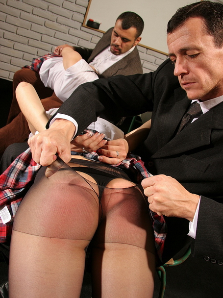 Hot schoolgirls in a hardcore maledom BDSM action