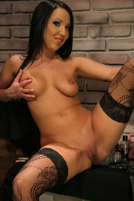 Brunette Chanel in BDSM Pain Tears and Pleasure