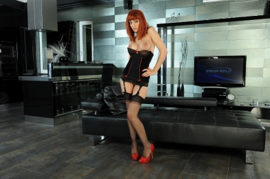 Redhead filthy whore in hardcore DP fucking action