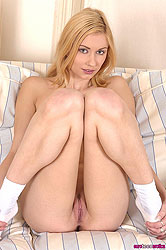 Blond Julie Silver uses 2 sex toys