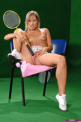 Candy proves that badminton is sexy