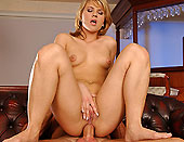 Blonde Kimberly sucking cock and gets in her ass