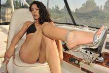 Addison Dark in a hardcore foot fetish on a boat