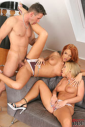 Babes Kyra & Mercedesz in threesome