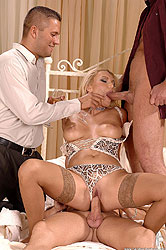 Elinor filled airtight with cock