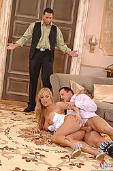 Jessica Moore in threesome action