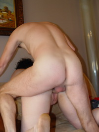 Two amateur couple in a swinger action at home