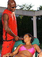 Busty Black Diamond in hardcore interracial act