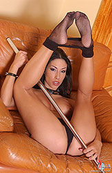 Hot whore Mya Diamond in fishnets
