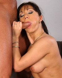 Adorable lady is an expert in fucking and sucking
