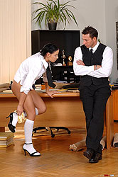 Hot schoolgirl getting spanked hard
