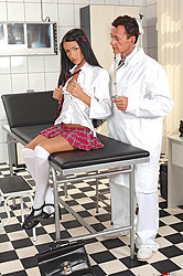 Sasha Rose examined by deviant doc