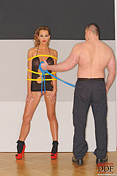 Bondage lesson with sexy Ava Blue