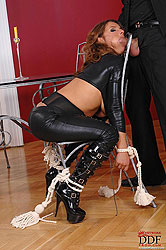 Bound Sexy Susi gets spanked hard