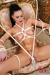 Tied up and stuffed with dildo!