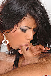 Yoha sucking and riding a hard cock