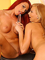 Devilish Sonya is licking and dildoing her nice gf