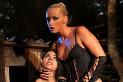 Mistress grabs her gal and teaches her to obey