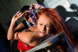 Watch Mandy Bright as she tortures poor Katy Parker