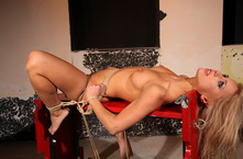 Babe gets hard lesson from mistress Mandy Bright