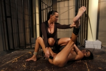 Mandy Bright corrupts Sweet Claudia in BDSM act