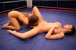 They prepare for their sex and submission fight