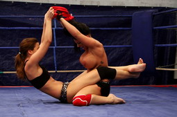 Sexy teen nude fighters are having sex in the ring