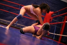 In the Nude Fight Clubs ring Connie versus Karen