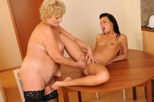 Sally loves to having sex with the lesbian granny